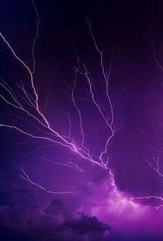 ❥❃ Purple ❃❥ Lightning ~ Electrical storm.