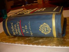 Oxford Dictionary Cake...cool! leave it in a library and see what happens... ;-)