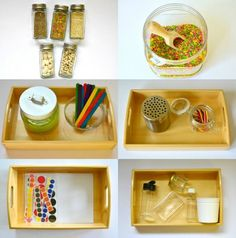 Montessori DIY Activities at home at 12 months 1 year Montessori Child Toddler Care Pack