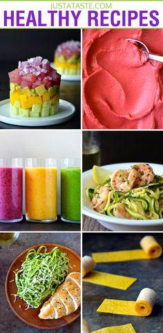 Healthy Recipes for Breakfast Through Dessert on justataste.com