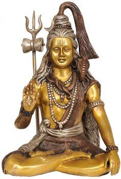 An exhaustive collection of Hindu Statues and Sculptures ranging from Shiva Lingas to Nataraja, Lord Ganesha to Lord Krishna and more at ExoticIndia. Devon Ke Dev Mahadev, Hindu Statues, Shiva Hindu, Shiva Wallpaper, Nataraja, Brass Statues, India Art, Album Design, Indian Gods