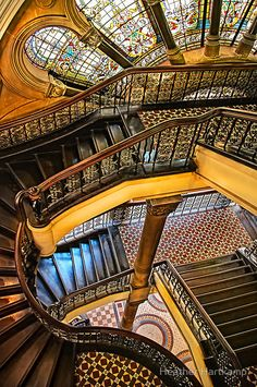 The Staircase; photograph by Heather Hartkamp. Queen Victoria Building, Sydney, Australia