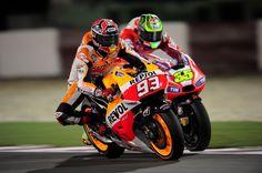 Marquez Crutchlow Qatar Qualifying 2014 MotoGP