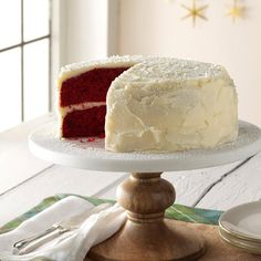 Grandma's Red Velvet Cake Recipe -In our family no one thinks it's Christmas without the Red Velvet Cake. I baked the first one for Christmas in 1963 when I found the recipe in the newspaper and my Mother kept the tradition going into the '80s. It's different than other Red Velvet Cakes I've tasted over the years, since this one tastes only mildly chocolate and the icing is as light as snow. —Kathryn H. Davison, Charlotte, North Carolina