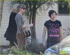 Taylor Swift & Harry Styles Leave Her Home in LA