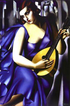 Femme a Guitare by Tamara de Lempicka, 1929. Art print from Art.com.