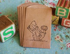 Classic Winnie The Pooh Kraft Favor Bags Pooh by asweetlittlenote, $5.95