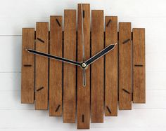 Oversized Wall Clock Rustic Wall Clock by HadleeRaeWoodDesigns