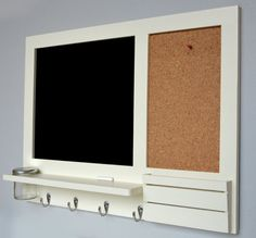 Large blackboard and corkboard organiser by LEBUfurniture on Etsy