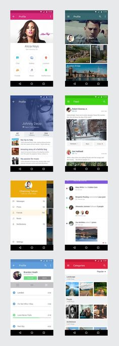 TweetSumoMe Friends, here's another featured PSD free resource. It's a free Android mobile UI kit with 8 smart objects including profile, feed, photos, notifications, etc. File Format: .PSD Layers: Vector File Size: 123 MB Visit