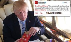 McDonald's fires off insults at Donald Trump over Twitter #DailyMail....I haven't had the Slime they have in their so called hamburgers for years..
