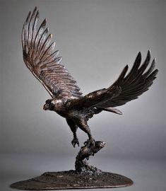 Bronze Fish Eagle by Adrian Flanagan Bird Sculpture, Animal Sculptures, Bronze Sculpture, Good Evening Wallpaper, Bird Fountain, Chest Tattoo, Garden Ornaments, Bald Eagle, Buy Art