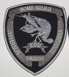 Jefferson-Parish-EOD-subdued-BOMB-Squad-Patch-LOUISIANA