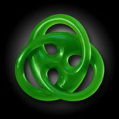 `Unique jade carving of an endless knot.