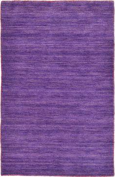 Purple 100cm x 160cm Solid Gabbeh Rug | Area Rugs | AU Rugs