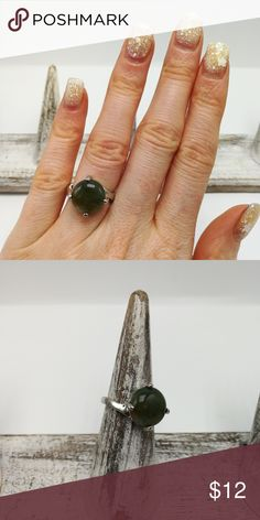 🎄🎅🎄 Aventurine jade New with Tags. Gorgeous Natural Gemstone Silver High Quality Electro-Plated ring. No trades or holds. Price is firm. R#2322  Jade Urban Outfitters Jewelry Rings