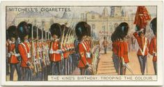 Trooping the Colour. From New York Public Library Digital Collections.
