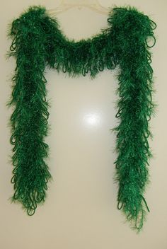Handmade Glamour Scarf Glitter Emeral Green by MerlinDesigns, $35.00