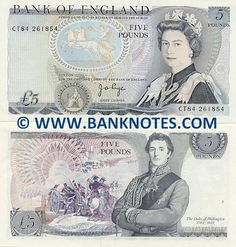 £5 note 1971- 1991