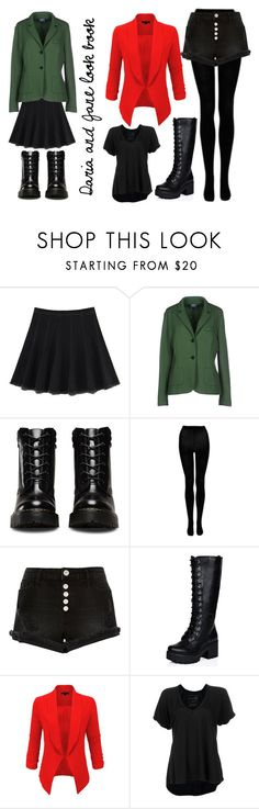 """Daria and Jane Look Book"" by anniefantastic on Polyvore featuring Aglaia, Buttero, River Island, LE3NO and Free People"