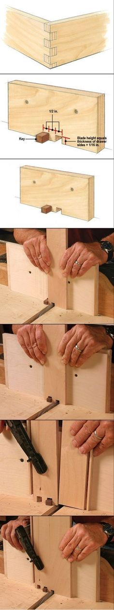 Box Joint Jig Handles Drawer Joinery with Ease #WoodworkingProjectsWithJig #woodworkingtools