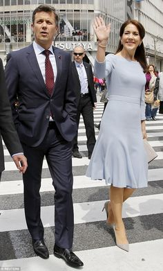 Last outing: Crown Princess Mary of Denmark and her husband Prince Frederik wrapped up the...