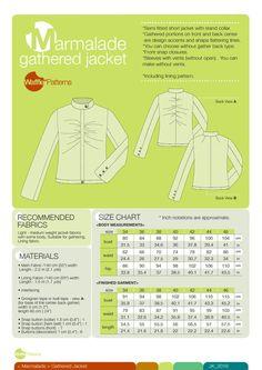 Waffle Patterns sewing patterns Gathered Jacket marmalade