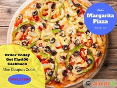 #ThursdayTopping: Order Margarita Topping Pizza from Railrestro Today and Get Flat 100 cashback on all Pre-paid orders. Use the coupon code in the image below to avail cashback. For more info call us at 8102-888-111