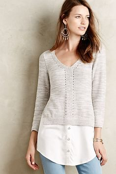 Layered Aselin Pullover #anthropologie $98.00