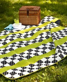 Stripes & Squares Quilt by Make it Do - Featured in Fons and Porter's Easy Quilts Magazine
