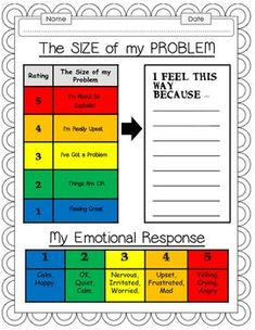 How BIG is my PROBLEM – Worksheet Bundle How BIG is my PROBLEM – Worksheet Bundle,Classroom Ideas Related posts:Social Emotional Learning Activities - EducationMy Anger Monster, an Anger Management activity - EducationBut It's Not. Social Skills Activities, Counseling Activities, Therapy Activities, Articulation Activities, Play Therapy, Speech Therapy, Therapy Ideas, Elementary School Counseling, School Social Work