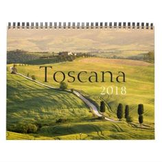 Tuscany landscape photography calendar 2018 - photography gifts diy custom unique special