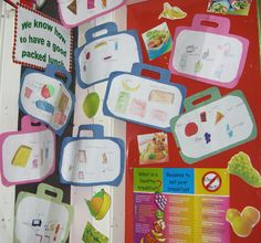 Healthy packed lunches classroom display photo - Photo gallery - SparkleBox