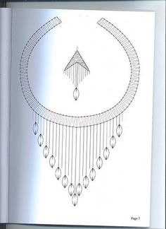 Punto di incontro di pizzo (p. 12) | Imparare l'artigianato è facilisimo.com Bobbin Lace Patterns, Embroidery Patterns, Jewelry Design Drawing, Bobbin Lacemaking, Dress Neck Designs, Jewellery Sketches, Silver Anklets, Lace Heart, Lace Jewelry