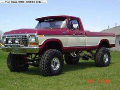 ford trucks old Big Ford Trucks, Classic Ford Trucks, 4x4 Trucks, Cool Trucks, Chevy Trucks, Lifted Trucks, Obs Truck, Custom Trucks, Silverado Truck