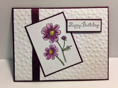 Bloom with Hope,  Birthday Card, Stampin' Up!, Rubber Stamping, Handmade Cards