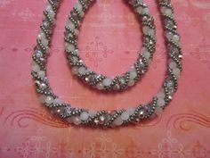 Simple Russian Spiral, necklace and matching bracelet. Created December 2010