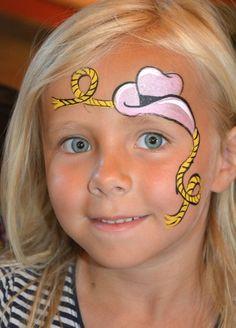 maquillage et déguisement cowgirl petite fille- idée sur le face painting