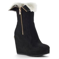 juicy-couture-kasia-women-s-fold-over-platform-wedge-ankle-boots I love these!!! I'm kind of disappointed juicy sold out to Kohl's but I love these boots!!!