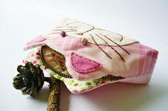 Cat purse / Cat zipper purse / Cat coin purse / Hand by DooDesign