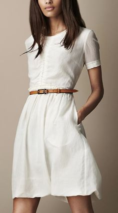 Stylish Petite | Fashion, Reviews and Petite Style: Coveting: White/Ivory A-line Dress