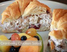 Cranberry Chicken (or Turkey) Salad -HEB Copycat Recipe {The Creativity Exchange}