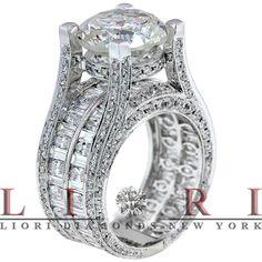 MY WEDDING RING!!!! 13.24 Carat G-SI2 Certified Natural Diamond Engagement Ring 14K Vintage Style, Certified Diamonds