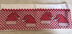 Bordado em tecido xadrez - Pano de Copa/Amostra (Detalhes sobre o bordado... Visitar