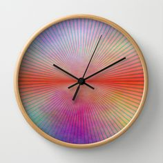 Grunge Wallpaper Wall Clock by Christine baessler - $30.00