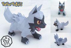 Easy Pokemon Papercraft | pokemon papercraft name poochyena type dark species bite pokemon ...