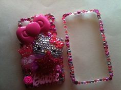 Pink Hello kitty Iphone 4 cell phone case by diamondsinherveins, $50.00
