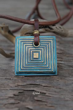 Boho Jewelry Square Boho Pendant Patina Jewelry by Lelandjewelry #accessoriescourse What would you wear with this lovely bold boho necklace?