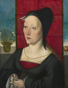 Hood & veil - 1495 - Cologne, Unknown artist: 'Portrait of a Woman'