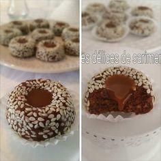 """_Salem 3aleykoum / Bonjour à tous. _Comme promis, je vais publié les recettes de mes gâteaux faites à l'occasion de la fête de l'aïd et voici pour commencer la première re7 """"gâteau au sésames et caramel sans cuisson """" très facile à réaliser et vraiment..."""